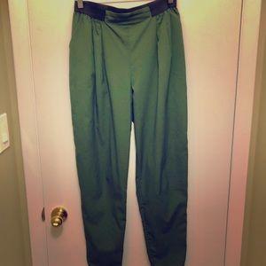 ASOS green high-waist lightweight pants- Tall sz 8